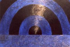 Blauwe droom, 70 x 60, olieverf op doek.