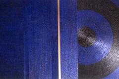 Blauwe droom twee, +/- 60 x 55, olieverf op paneel.