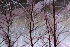 Drie bomen, 24 x 30 cm, olieverf op doek.  Verkocht.