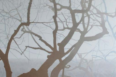 Uitzicht, 55 x 55 cm, olieverf op mdf.  Verkocht.