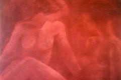 Vrouwen 3,  100 x 120, olieverf op doek.